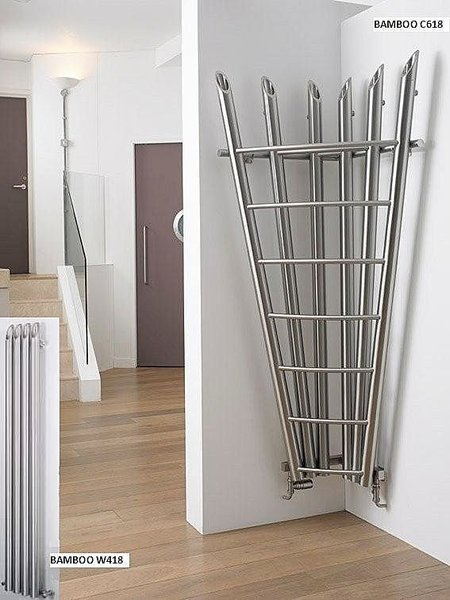 Aeon Bamboo Corner design hot water radiators